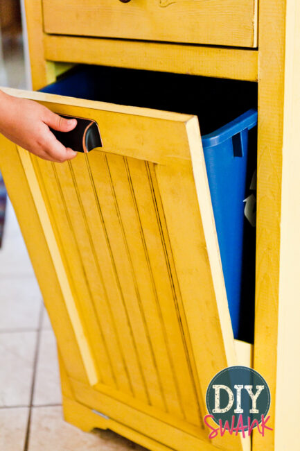 DIY Tilt-out trash bin