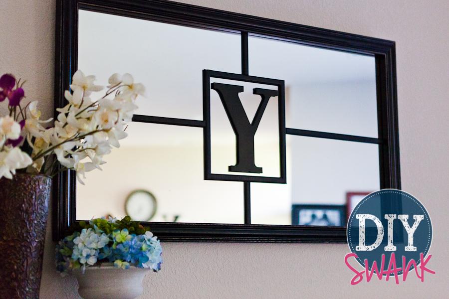DIY Monogram Mirror