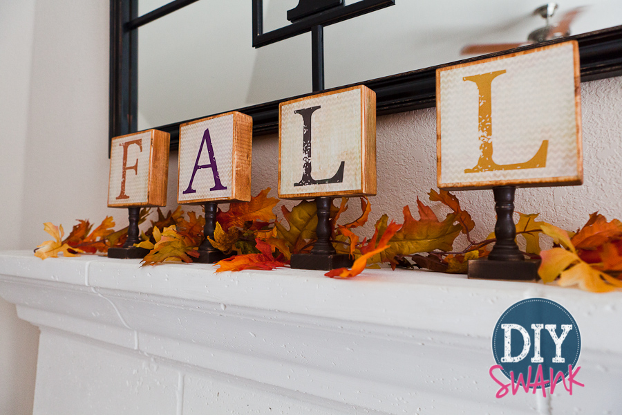 DIY Fall Chevron Wood Block Letters – Free Printable