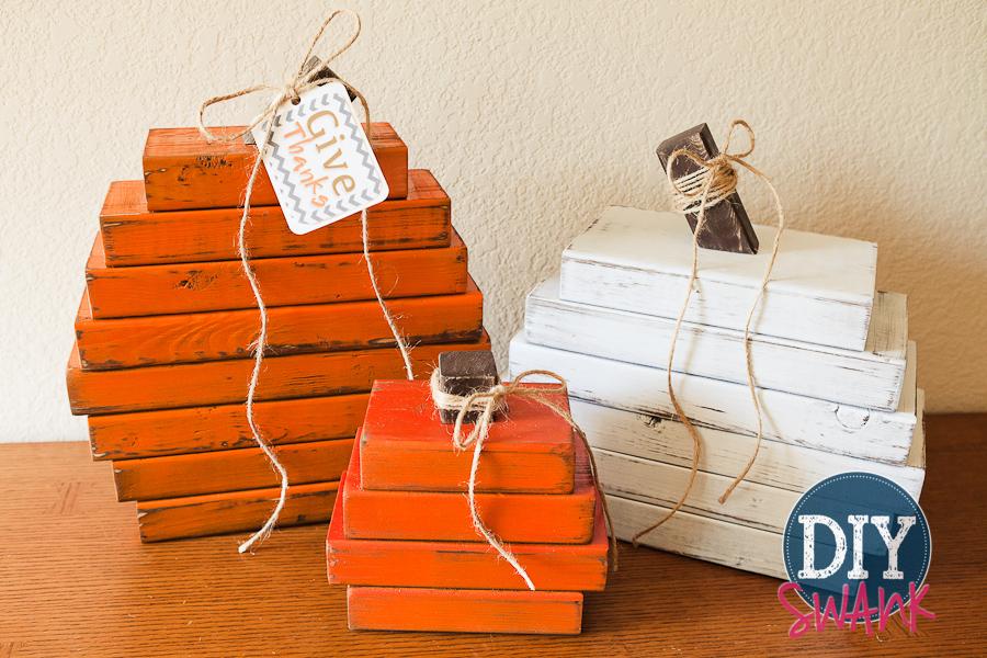 Rustic wood pumpkins diy fall decor diy swank for Rustic wood crafts ideas