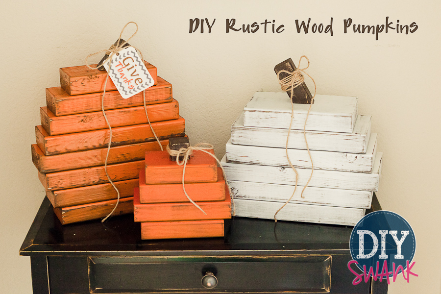 Rustic Wood Pumpkins – DIY Fall Decor
