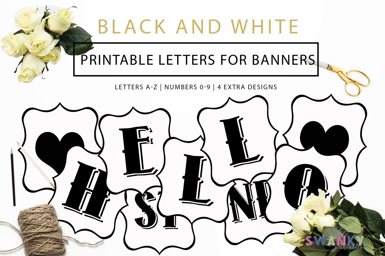 Free Printable Letters For Banners  Diy Swank