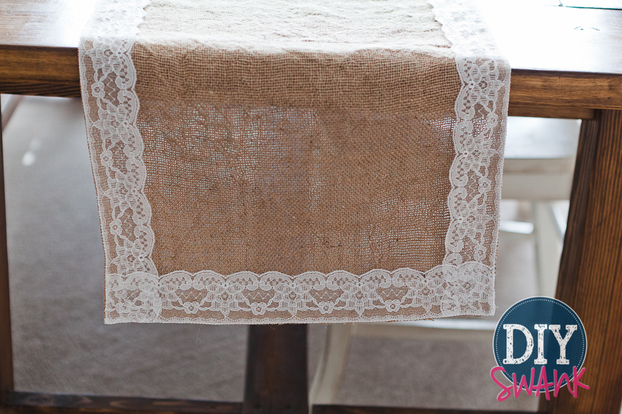 DIY Burlap and Lace Ta...