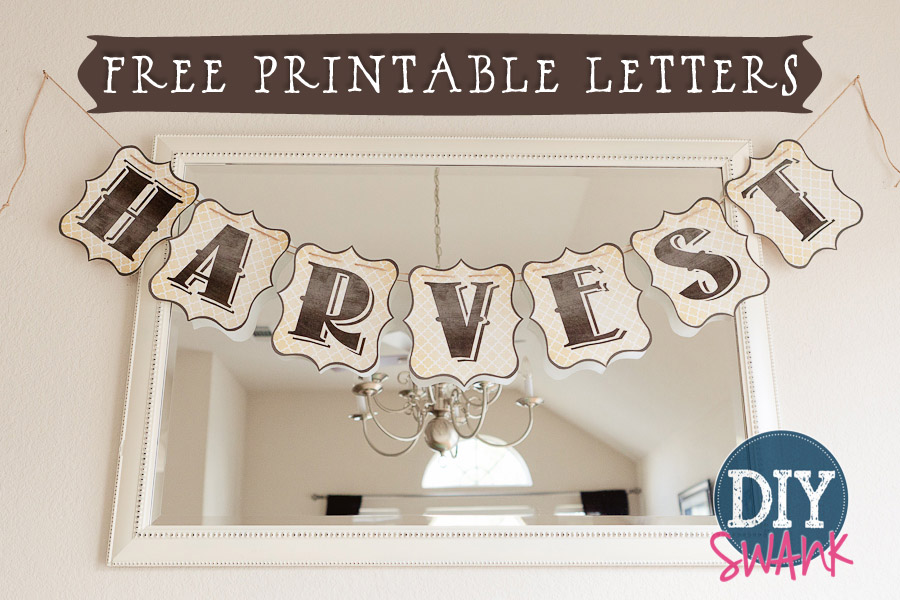 image relating to Free Printable Bulletin Board Letters Pdf called No cost Printable Letters for Banners! Full Alphabet Do-it-yourself SWANK