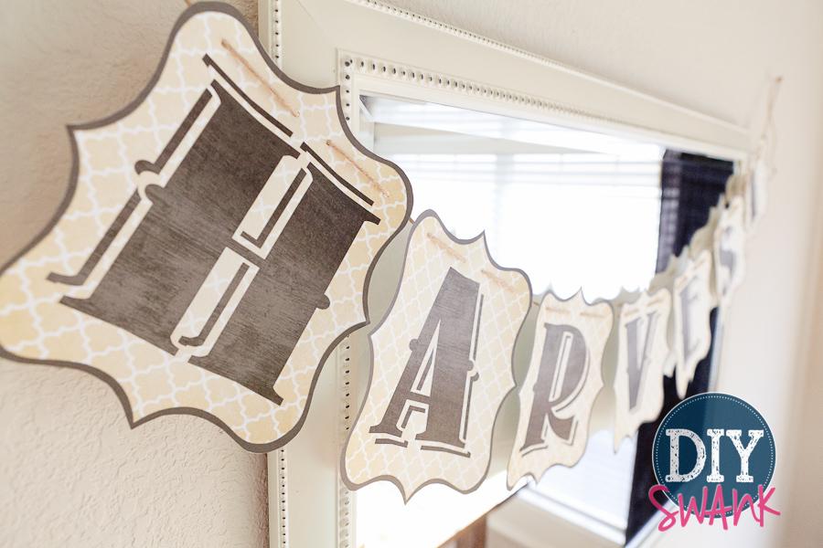Free Printable Letters-DIY Harvest Banner | DIY SWANK