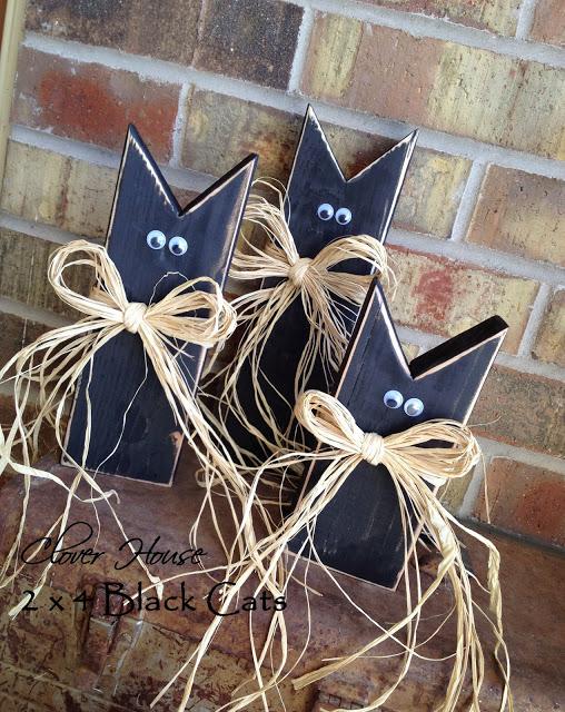 Wood Black Cats