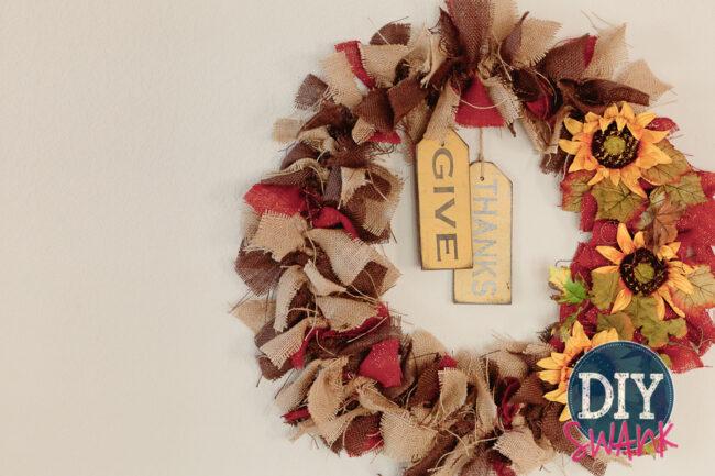 DIY Burlap Rag Wreath-2-2