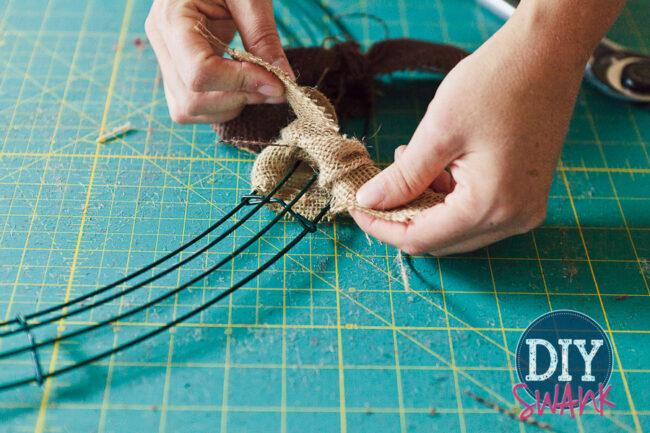 DIY Burlap Rag Wreath-4
