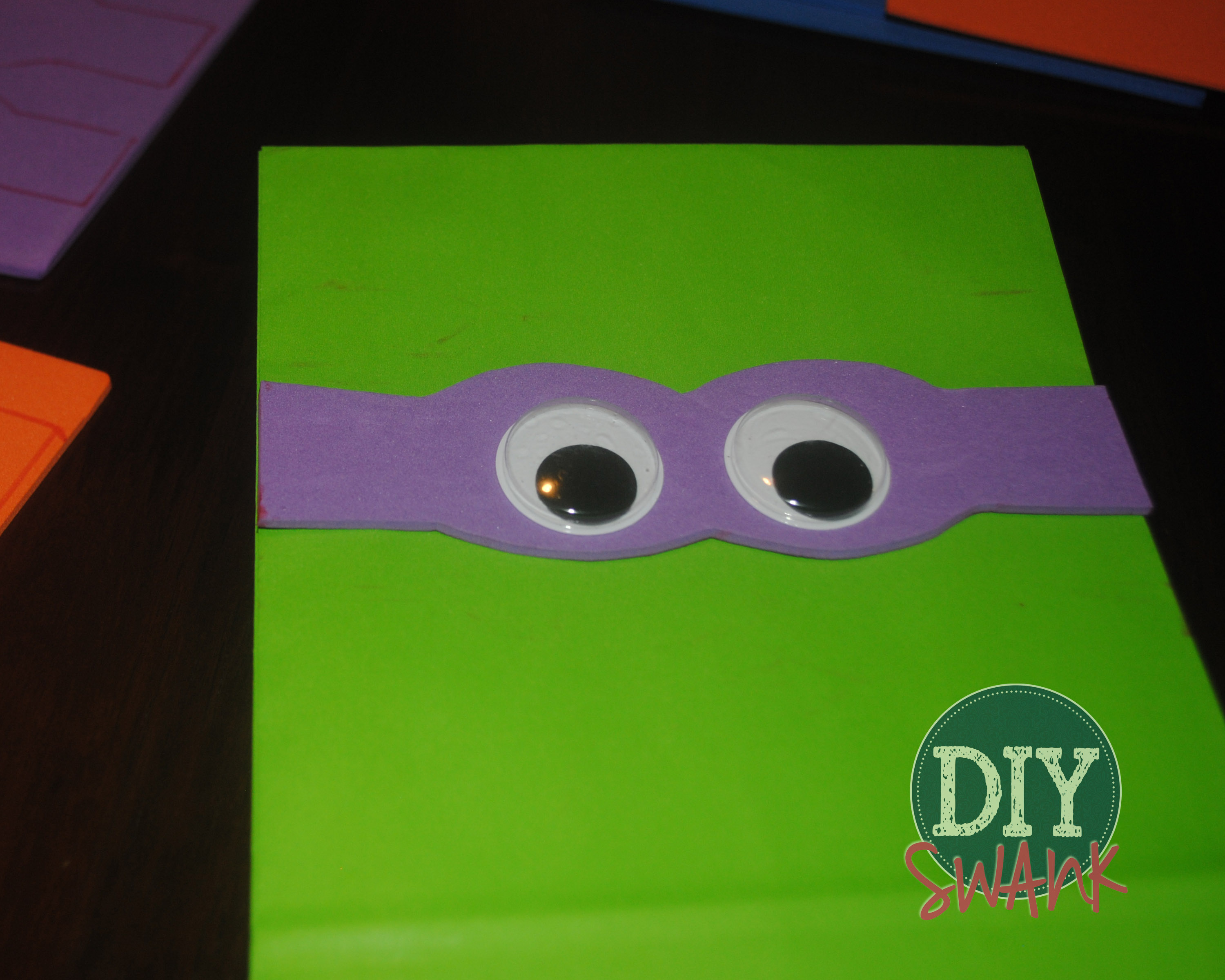 photo relating to Printable Ninja Turtle Mask Template named Do it yourself Ninja Turtle Get together Prefer Luggage Do it yourself SWANK