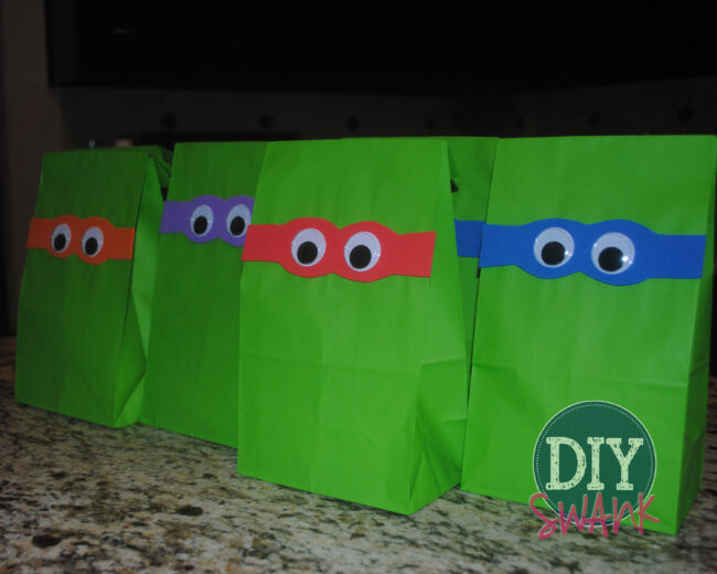Ninja Turtle Party Favor Bags