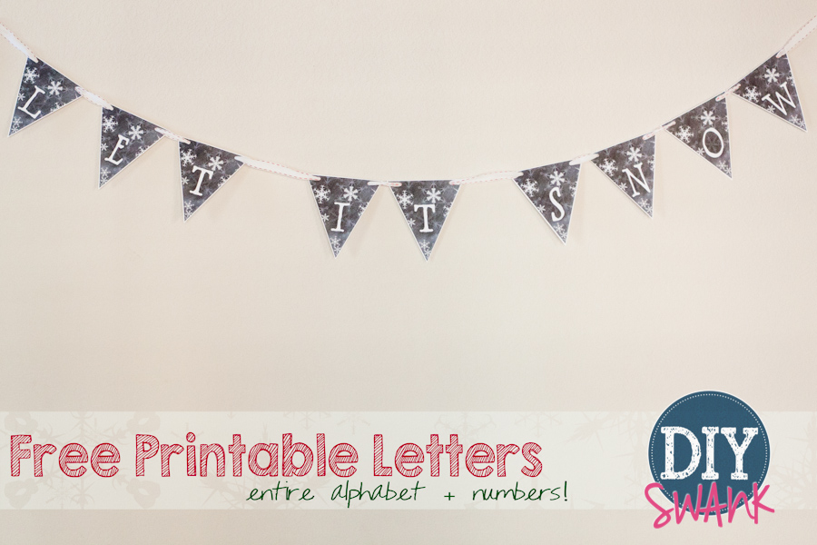 image regarding Printable Letters and Numbers known as Free of charge Printable Chalkboard Letters + Figures Do it yourself SWANK