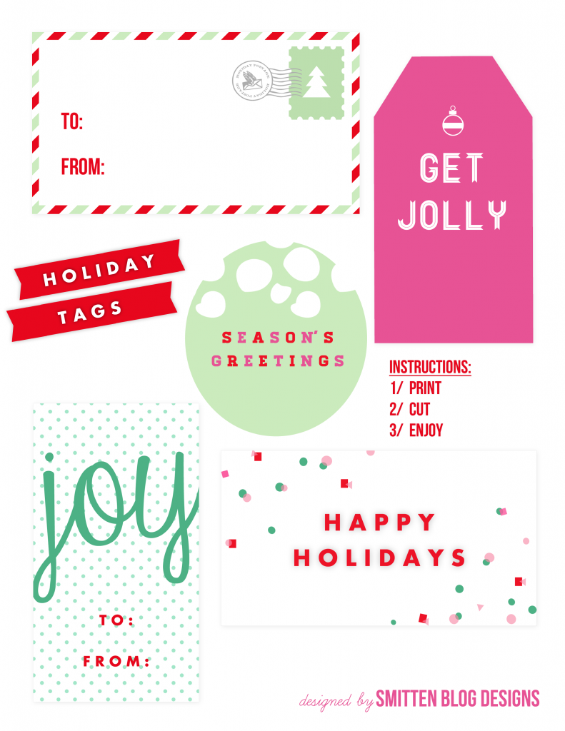 Get Jolly Gift Tags by Smitten Blog Designs