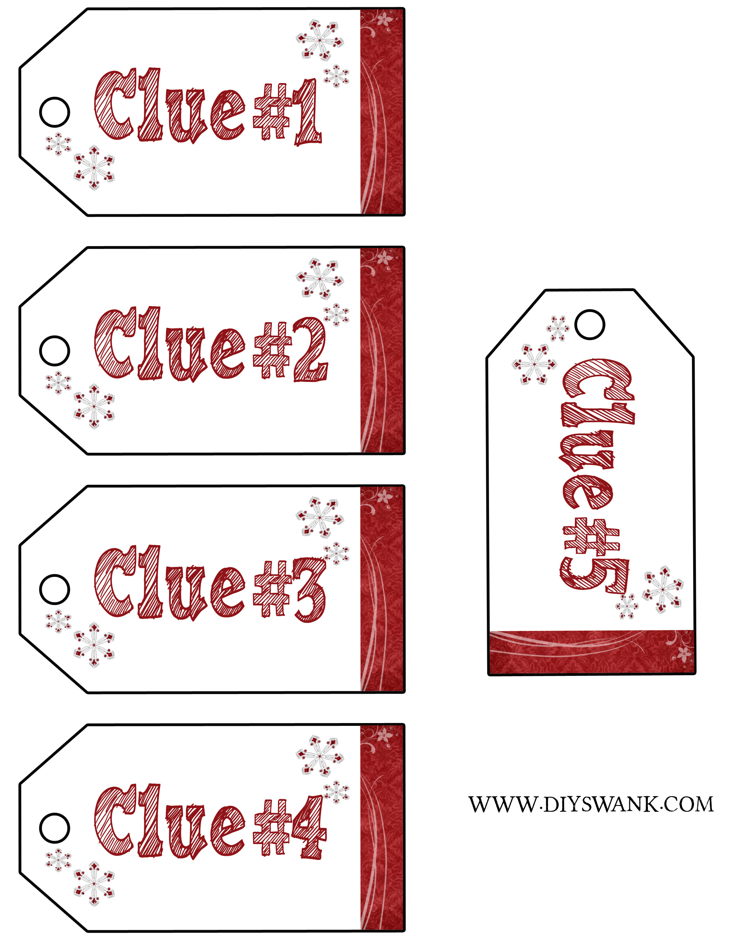 image relating to Christmas Scavenger Hunt Printable Clues titled Santa Reward Scavenger Hunt-Absolutely free Printables Do-it-yourself SWANK