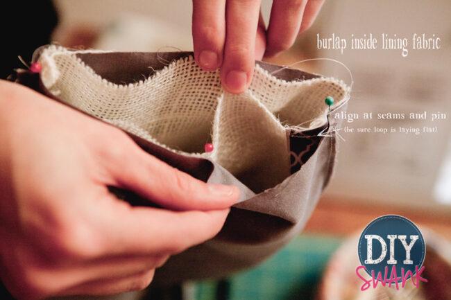 A simple no cuff DIY burlap stocking tutorial.