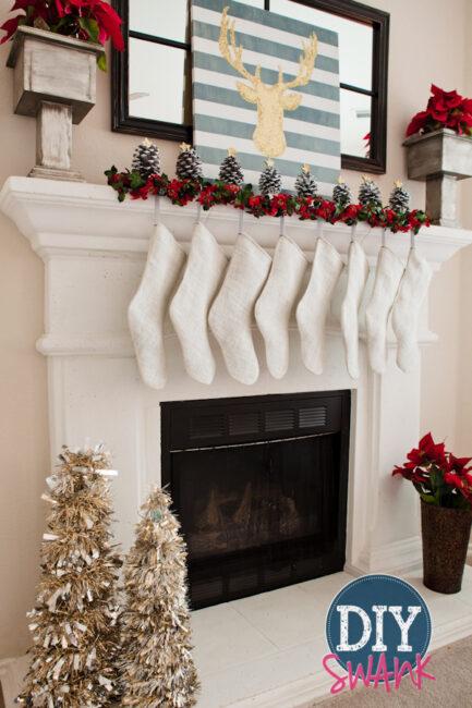 DIY Christmas Mantel