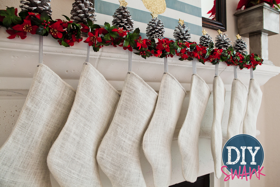 DIY Burlap Stocking Tutorial