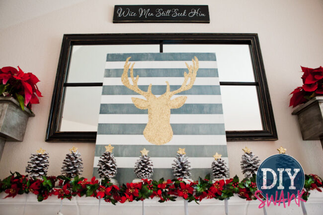 DIY Christmas Mantel