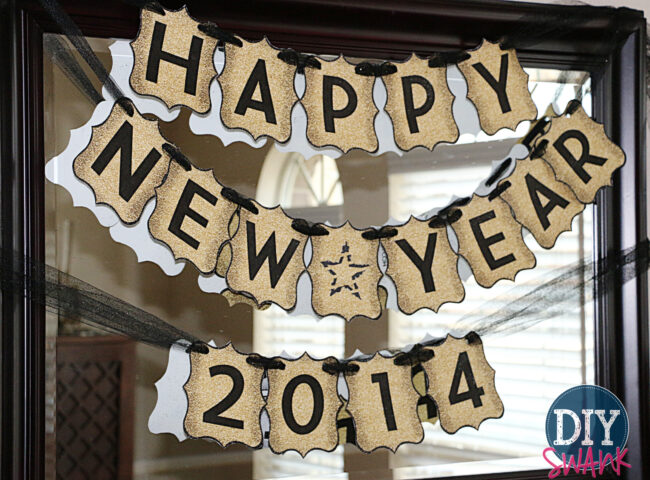 free printable letters_new year new years banner gold_2 happy