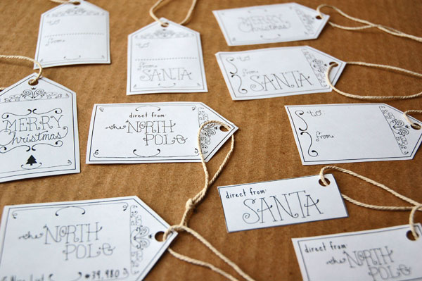 North Pole Gift Tags