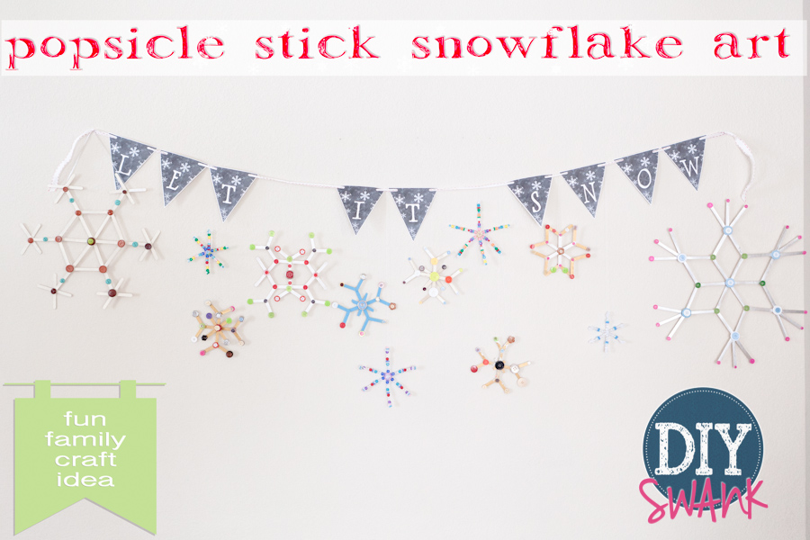 Popsicle Stick Snowflakes – DIY Art