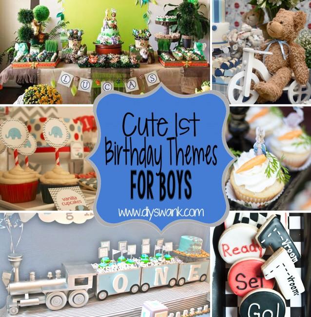 Cute Boy 1st Birthday Party Themes