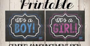 Gender Reveal Free Printables
