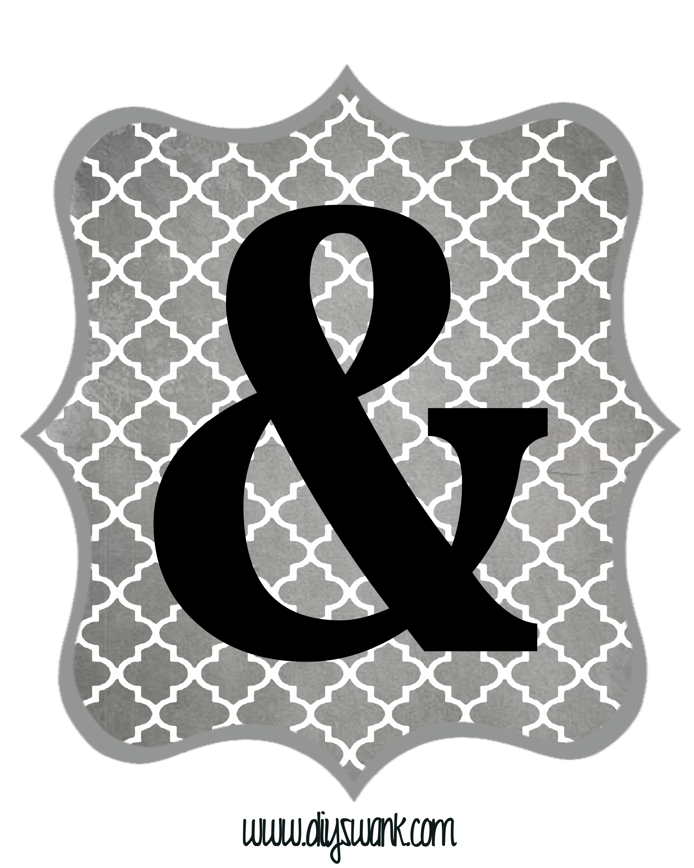 free printable alphabet letters free printable letters gray and black diy swank 1252