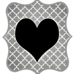 Gray Heart Printable