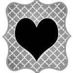 Gray Heart Printable