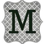 Free Printable Letters Gray Black