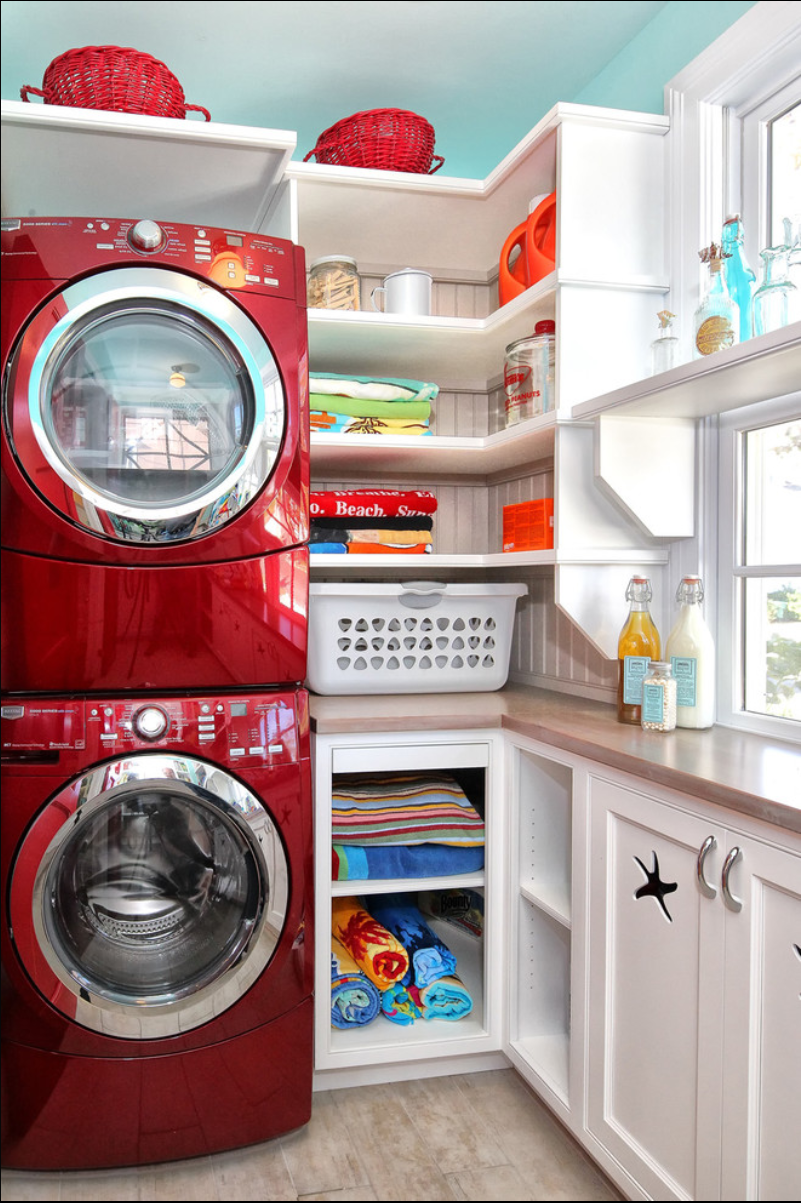 Small laundry and mud room inspiration diy swank for Small laundry design