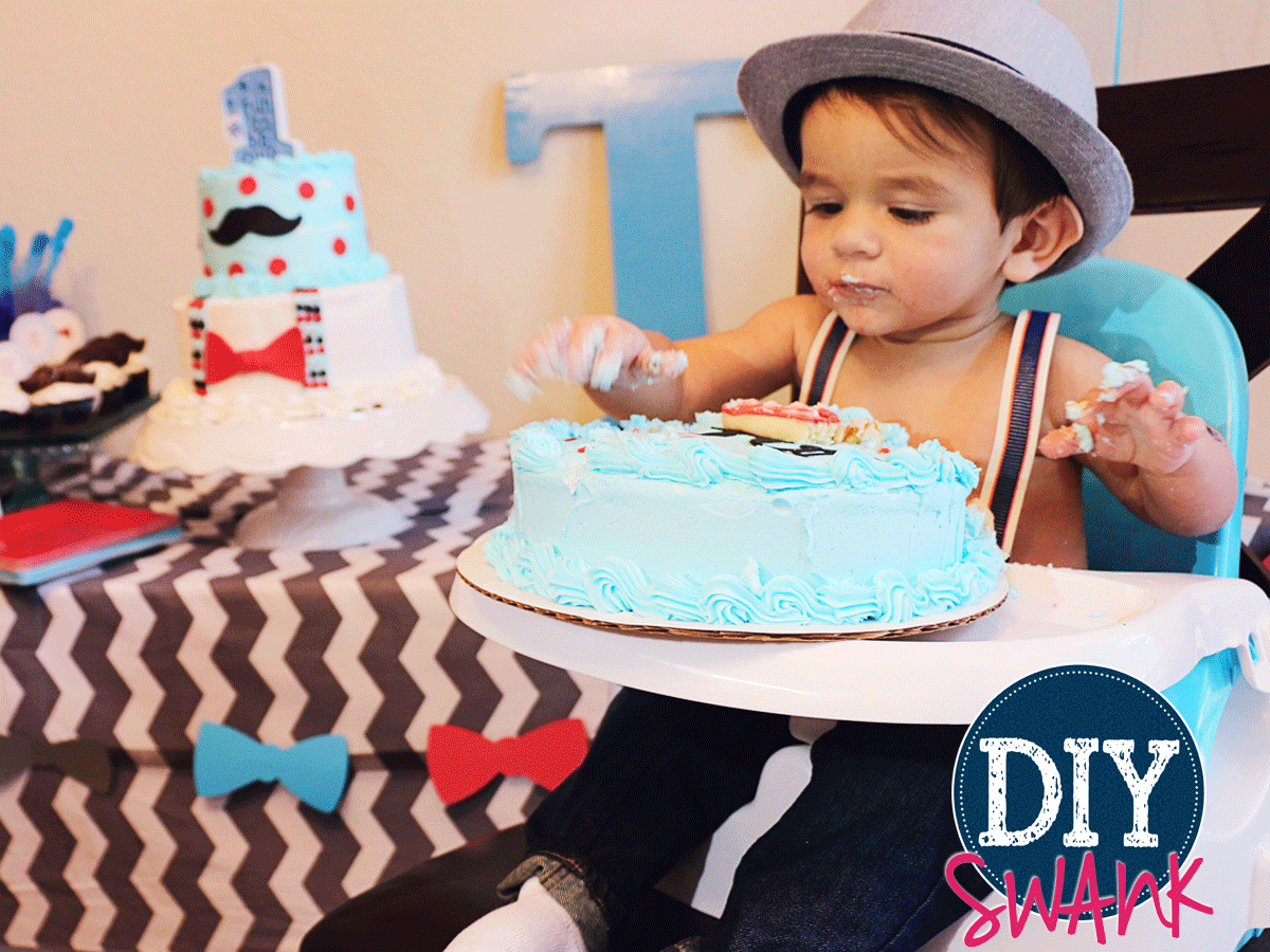 Cool Little Man First Birthday Party Swanky Design Company Birthday Cards Printable Trancafe Filternl