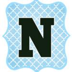 Blue_Black Letter_N