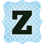 Blue_Black Letter_Z