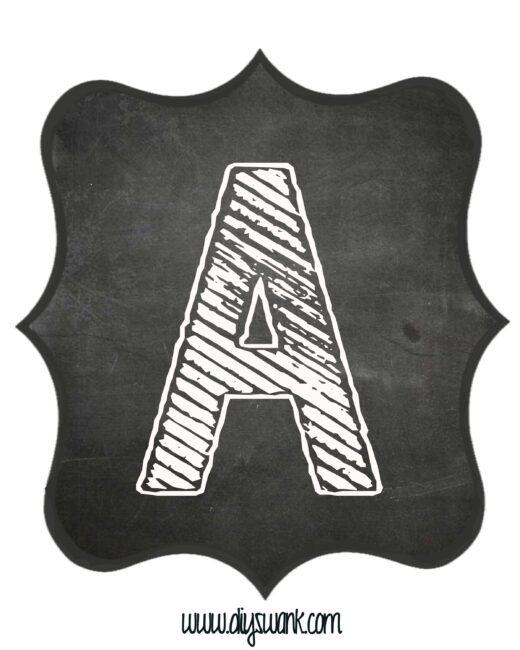 Printable_Chalkboard_ Letter_A