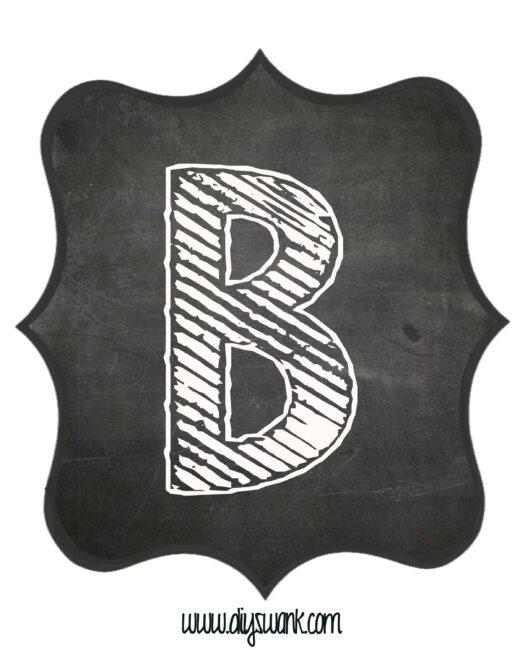 Printable_Chalkboard_ Letter_B