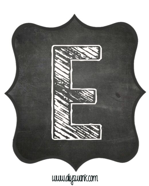 Printable_Chalkboard_ Letter_E