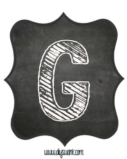 Printable_Chalkboard_ Letter_G
