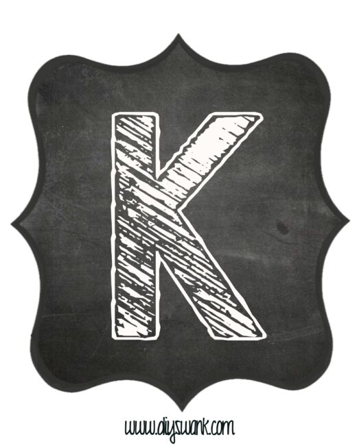 Printable_Chalkboard_ Letter_K