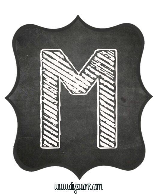 Printable_Chalkboard_ Letter_M