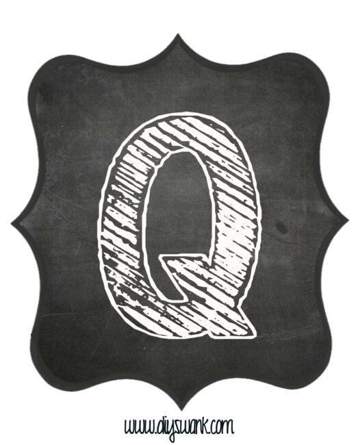 Printable_Chalkboard_ Letter_Q
