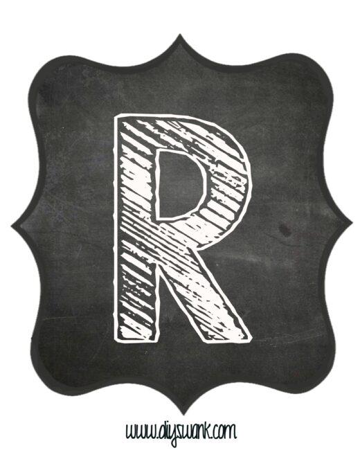 Printable_Chalkboard_ Letter_R