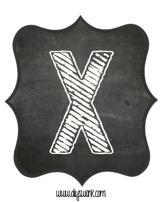 Printable_Chalkboard_ Letter_X