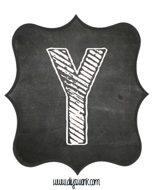 Printable_Chalkboard_ Letter_Y