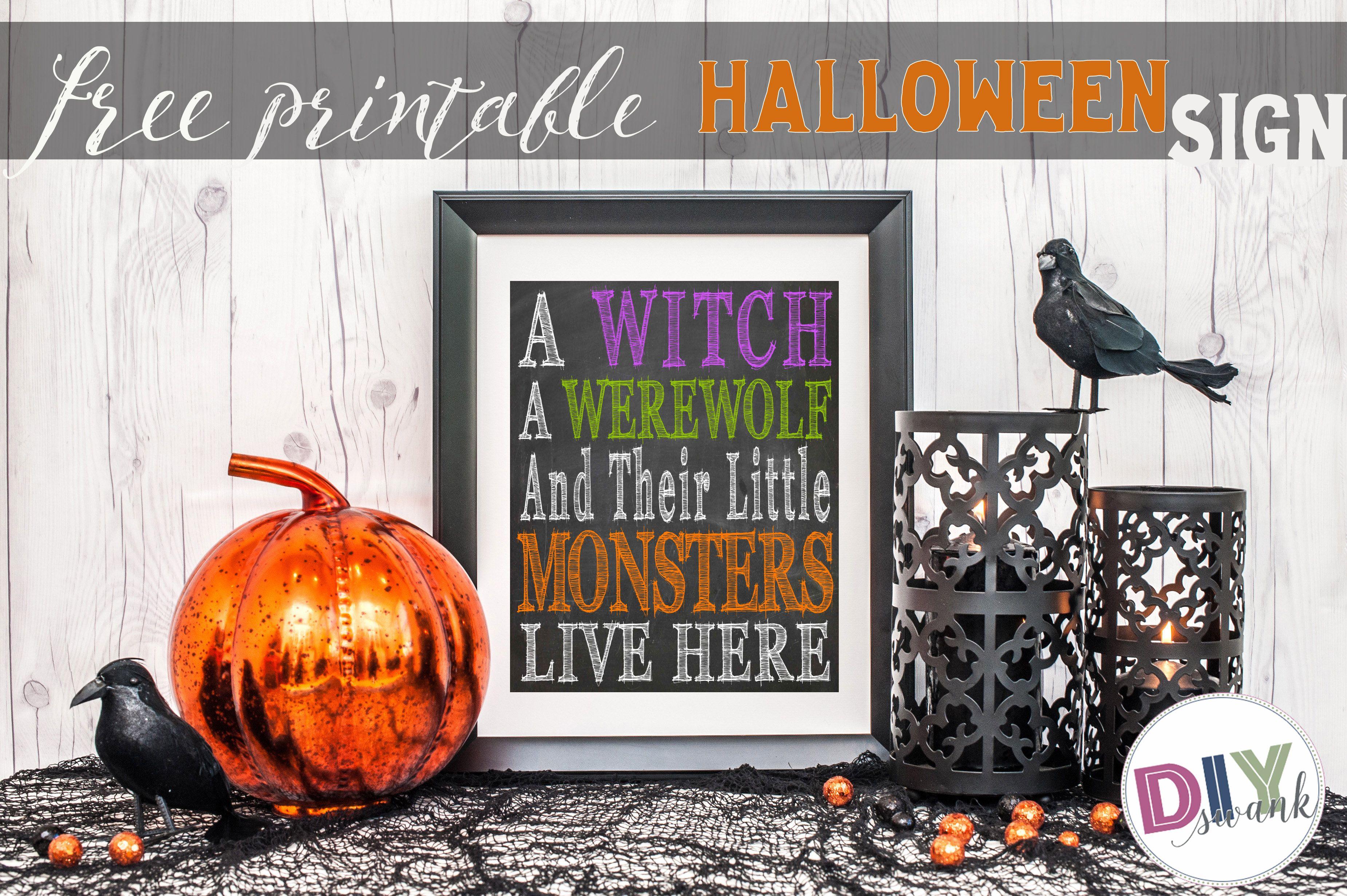 cute halloween sign free printable diy swank