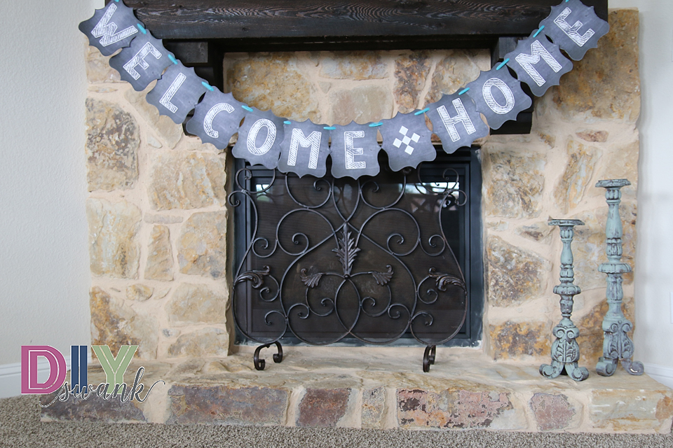 Chalkboard Letters for Banners-Free Printable