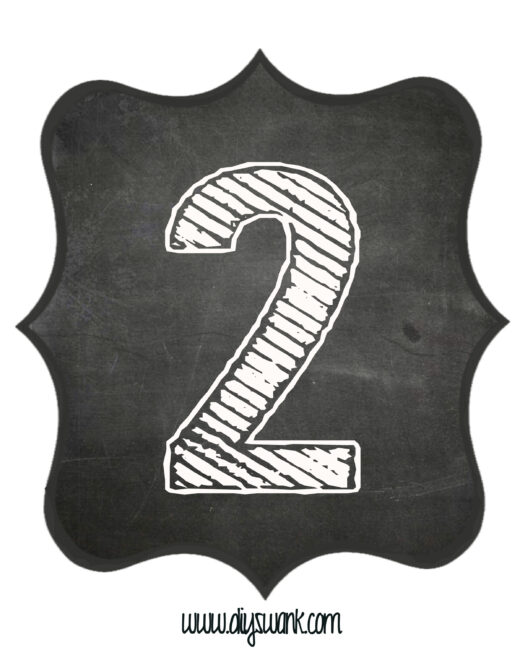 Printable_Chalkboard_ Number_2