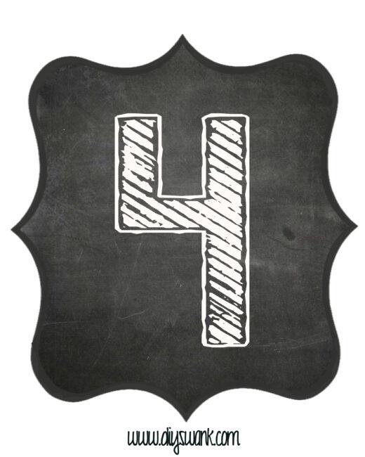Printable_Chalkboard_ Number_4