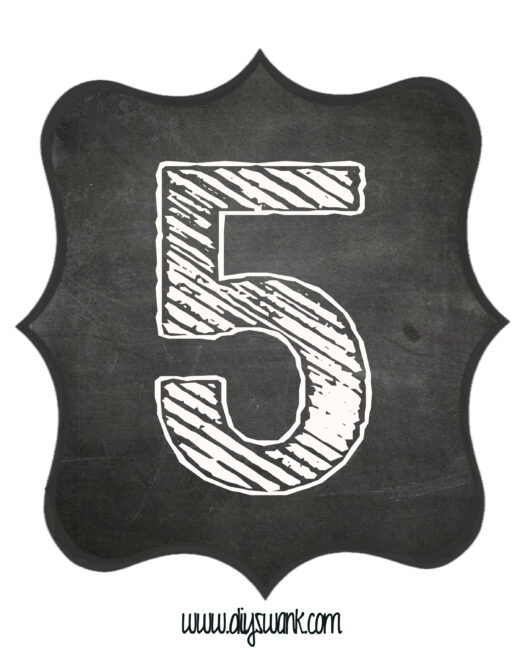 Printable_Chalkboard_ Number_5