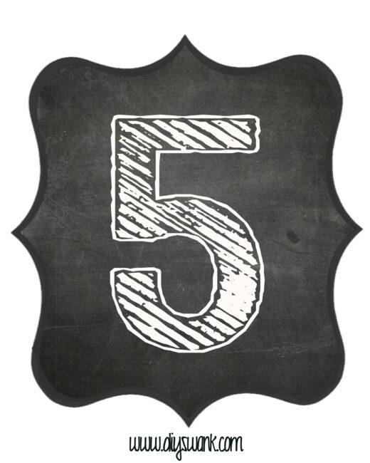 Printable_Chalkboard_ Number_5